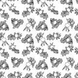 Het patroon van sdog nam toe Stock Afbeeldingen