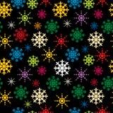 Het patroon van sneeuwvlokken Stock Afbeelding