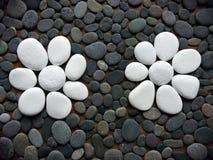 Het patroon van stenenbloemen Stock Foto