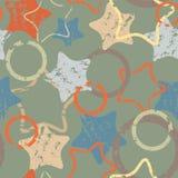Het patroon van sterren Stock Afbeeldingen
