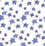 Het patroon van sterren Stock Foto's