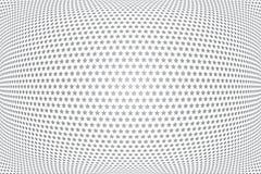 Het patroon van sterren 3D illusie Convexe geweven achtergrond royalty-vrije illustratie