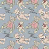 Het patroon van Teddy Stock Foto's