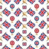 Het patroon van Union Jack Stock Foto