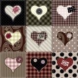 Het patroon van valentijnskaarten Stock Afbeelding