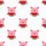 Het patroon van het varkensbehang vector illustratie