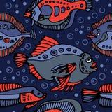 Het patroon van vissen Stock Afbeeldingen