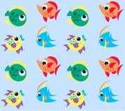 Het patroon van vissen Royalty-vrije Stock Foto's