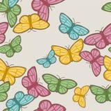 Het patroon van vlinders Royalty-vrije Stock Fotografie
