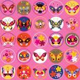 Het patroon van vlinders Stock Foto