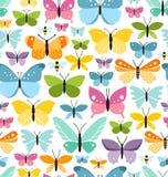 Het patroon van vlinders Stock Afbeeldingen