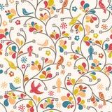 Het patroon van vogels Stock Afbeelding