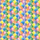 Het patroon van waterverfpasen met multicolored eieren Royalty-vrije Stock Afbeelding
