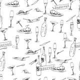Het patroon van wijnflessen Royalty-vrije Stock Foto