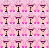 Het patroon van wijnglazen Stock Foto