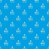 Het patroon vector naadloos blauw van de blokregeling Stock Afbeeldingen