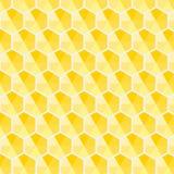 Het patroon vector van de honingraat hexagon gele schaduw samenvatting als achtergrond stock illustratie