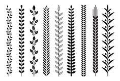 Het patroon vectorillustraties van de bladaard stock illustratie