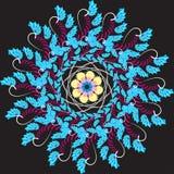 Het patroon wordt gemaakt in de stijl van fractals in vectorformaat vector illustratie