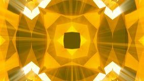 Het patroonachtergrond van caleidoscoop gouden juwelen het 3d teruggeven vector illustratie
