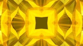 Het patroonachtergrond van caleidoscoop gouden juwelen het 3d teruggeven royalty-vrije illustratie