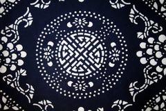 Het patroonachtergrond van de Chinese traditionele doek Royalty-vrije Stock Foto
