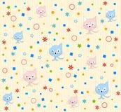Het patroonachtergrond van de kat   Royalty-vrije Stock Foto's