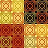 Het patroonachtergrond van de lapwerk retro textuur Stock Afbeelding