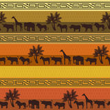 Het patroonachtergrond van de safari Royalty-vrije Stock Afbeelding