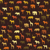 Het patroonachtergrond van de safari Royalty-vrije Stock Afbeeldingen