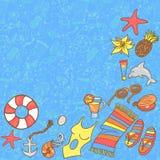 Het patroonachtergrond van het de zomerstrand Royalty-vrije Stock Foto