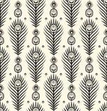 Het patroonachtergrond van het pauw abstracte ontwerp Stock Foto's