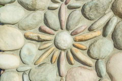 Het Patroonbeeld van de rotsmuur Royalty-vrije Stock Afbeeldingen
