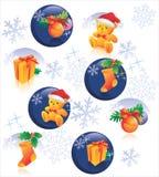Het patroondecoratie van Kerstmis Royalty-vrije Stock Foto's