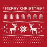 Het patroondruk van de Kerstmiswinter voor Jersey Royalty-vrije Stock Afbeelding