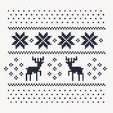 Het patroondruk van de Kerstmiswinter voor Jersey of t-shirt Stock Foto
