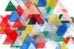 Het patroonillustratie van driehoeken Stock Afbeelding