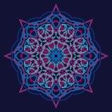 Het patroonkaart van de de winter Keltische knoop, mandala, amulet Stock Foto's