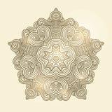 Het patroonkaart van de de winter Keltische knoop, mandala, amulet Royalty-vrije Stock Foto's