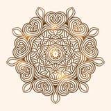 Het patroonkaart van de de winter Keltische knoop, mandala, amulet Stock Afbeelding