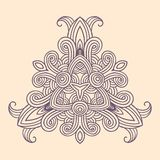 Het patroonkaart van de de winter Keltische knoop, mandala, amulet Stock Afbeeldingen