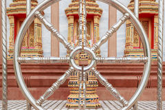 Het Patroonmuur van de tempel Thaise Stijl Stock Fotografie