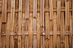 Het patroonmuur van het bamboeweefsel Stock Fotografie