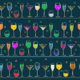 Het patroonontwerp van de cocktail Royalty-vrije Stock Afbeeldingen
