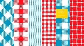 Het patroonreeks van de gingangplaid Stock Afbeeldingen