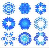 Het patroonreeks van de sneeuwvlok Royalty-vrije Stock Fotografie