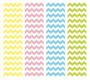Het patroonreeks van de zigzagchevron Royalty-vrije Stock Foto's