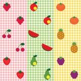 Het patroonreeks van het fruit Royalty-vrije Stock Afbeeldingen