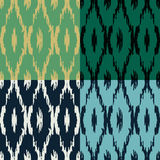 Het patroonreeks van Ikat Royalty-vrije Stock Foto