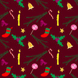 Het patroonrood van Kerstmis Stock Foto